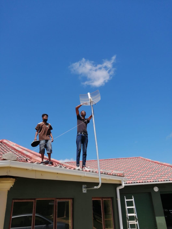 Parabolic Antenna Install 2